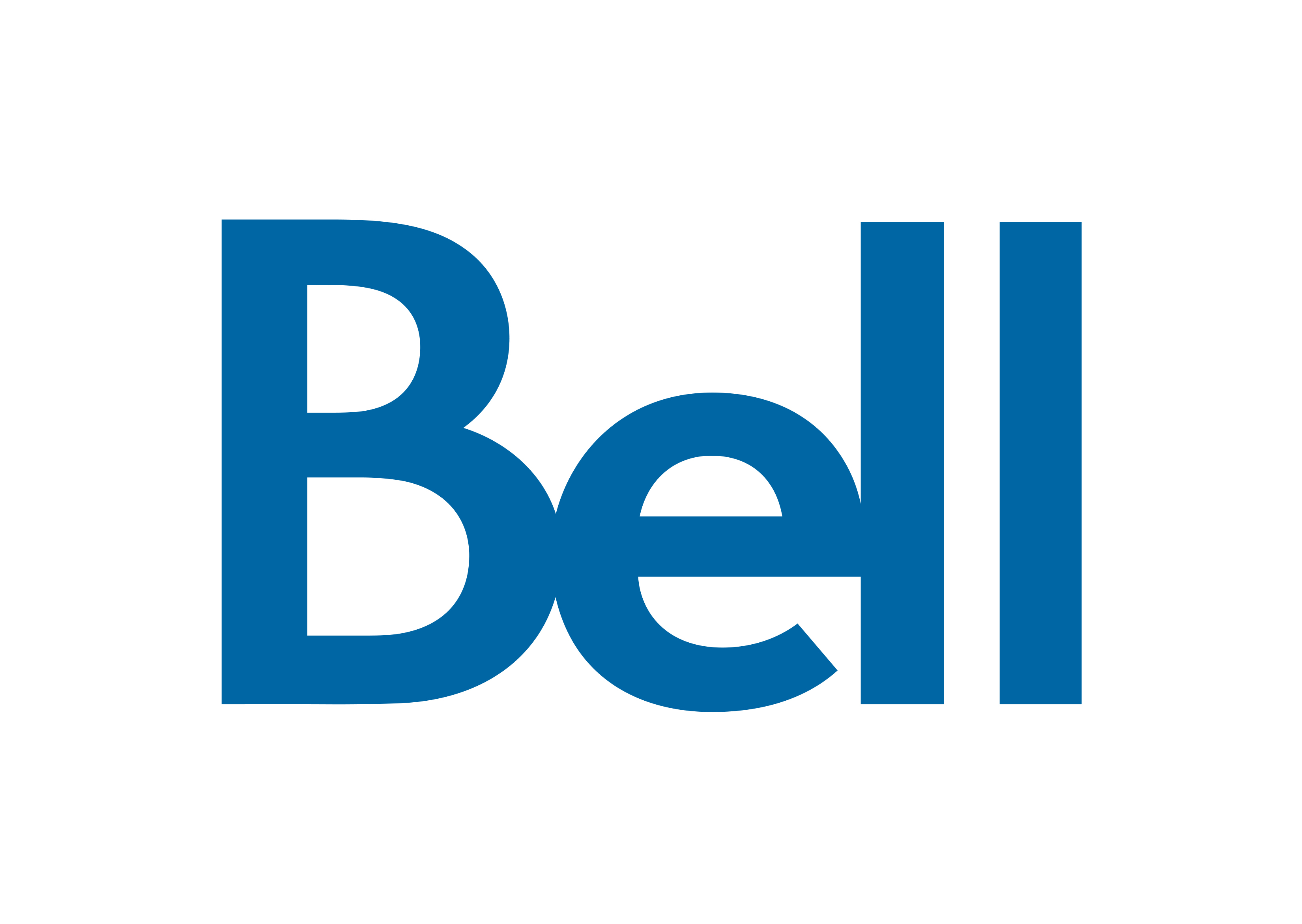 "Bell logo. Blue text on a white background. ""Bell"""