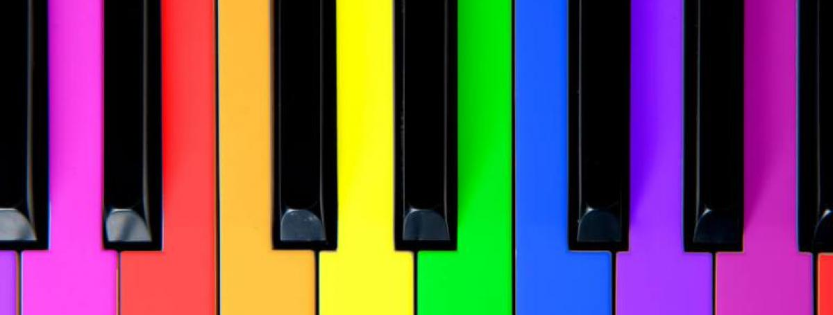Keyboard in all the colors of the rainbow.