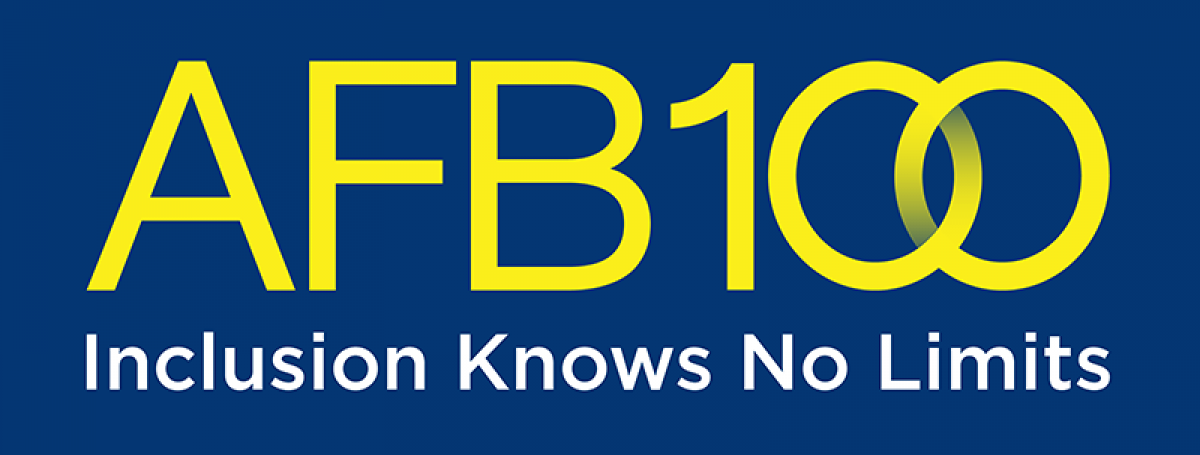 AFB 100 Logo. Inclusion knows no limits.