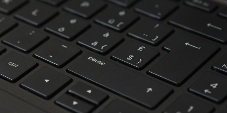 Close of a black keyboard