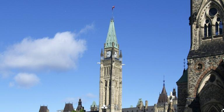 The Parliament Buildings in Ottawa, Ontario.
