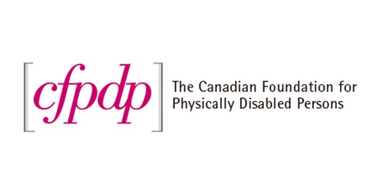 """cfpdp; The Canadian Foundation for Physically Disabled Persons"" logo."