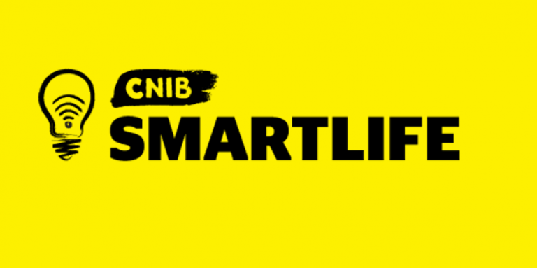 CNIB Smartlife banner, logo shows an icon of a lightbulb