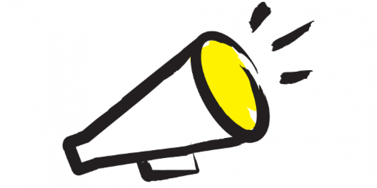 drawn image of a megaphone
