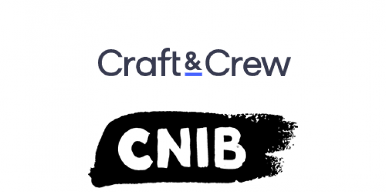Craft and Crew Logo and CNIB logo