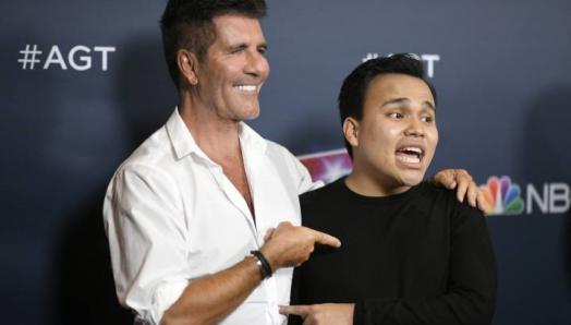 Simon Cowell and Kodi Lee attend the Season 14 Finale of 'America's Got Talent' at Dolby Theatre on Sept. 18, 2019 in Hollywood, Calif. (Photo by Frazer Harrison/Getty Images)